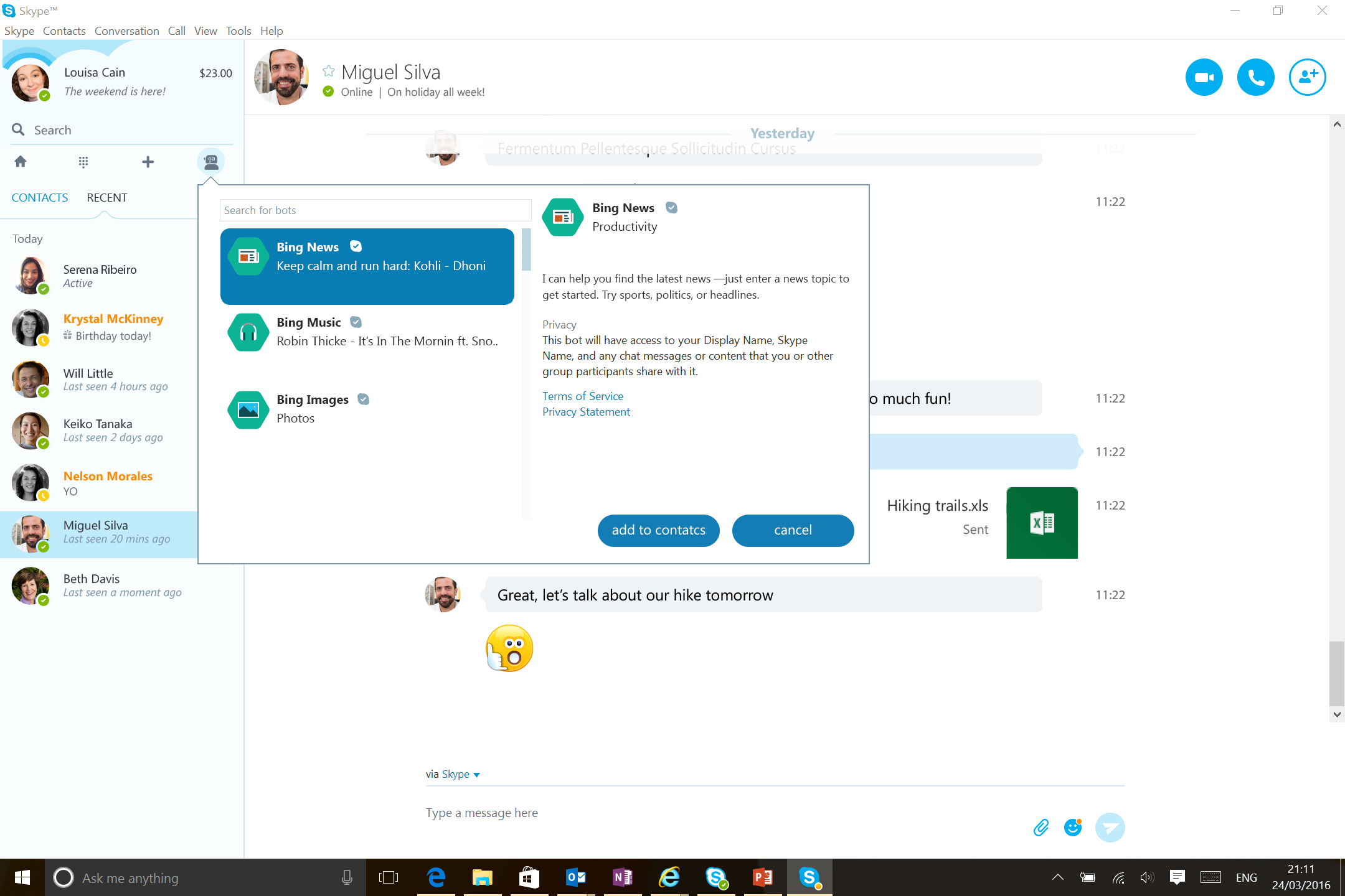 How To Use Skype Bots On Windows Desktop Ios And Android