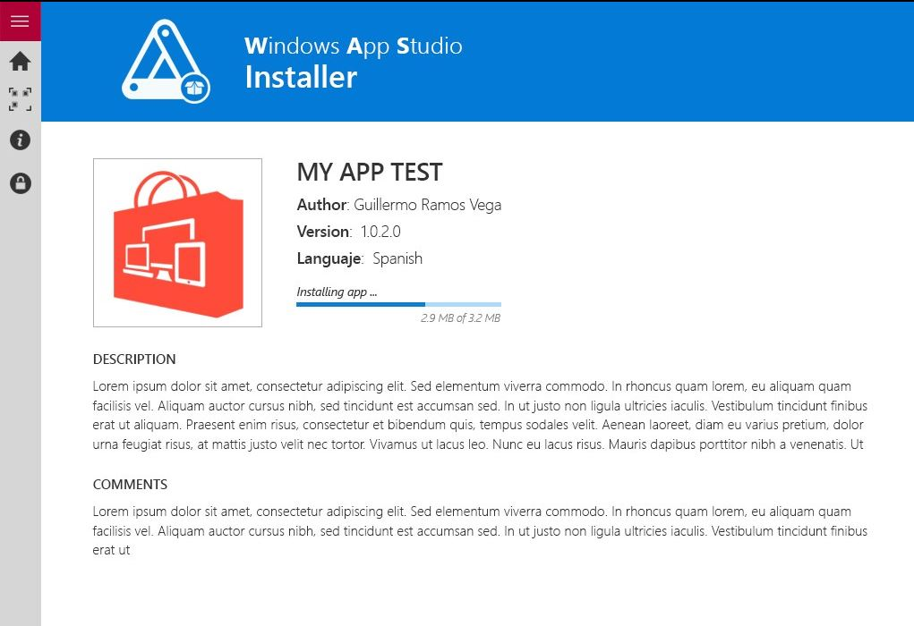 Windows App Studio Installer