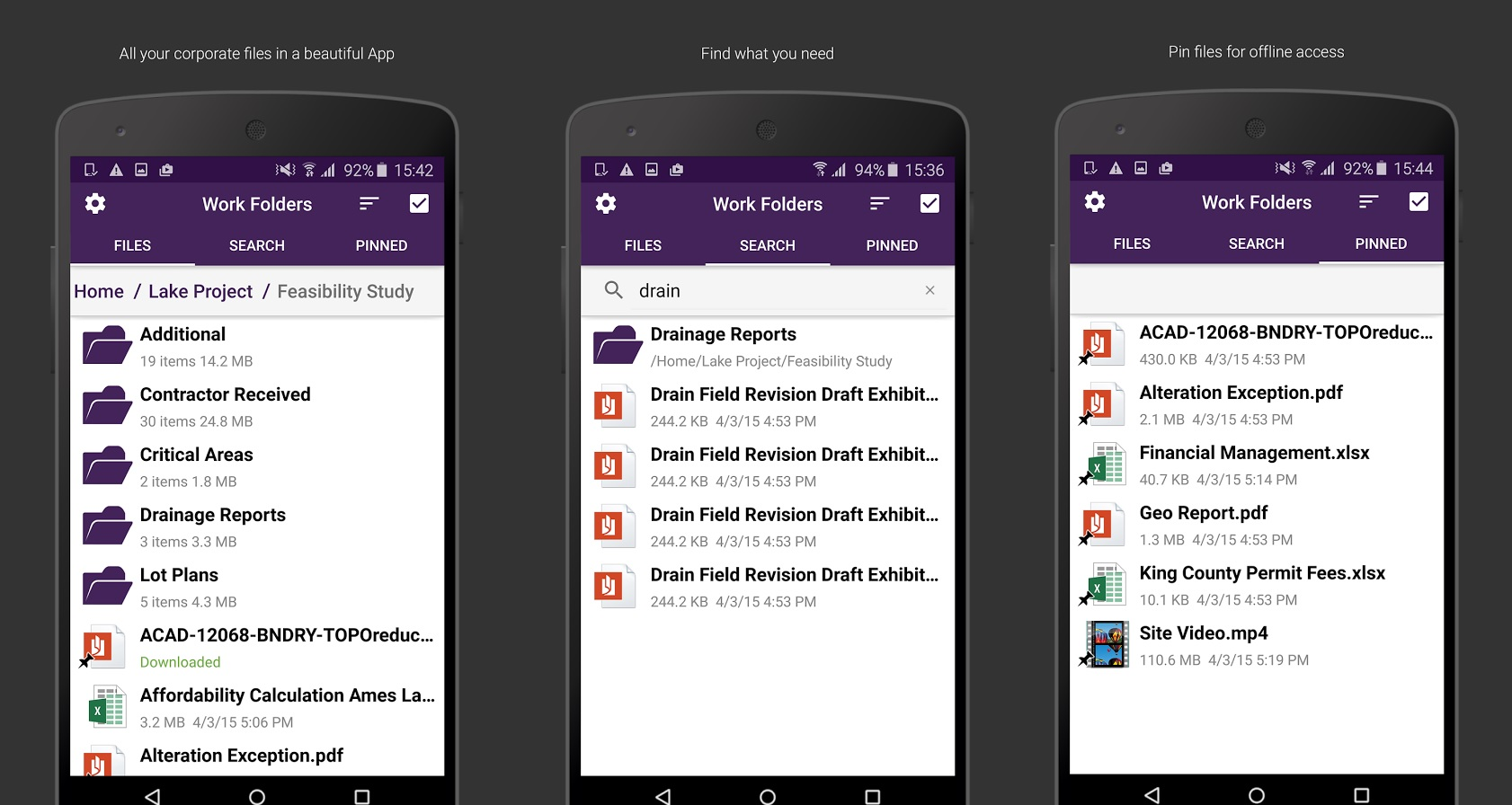 Work Folders Android App