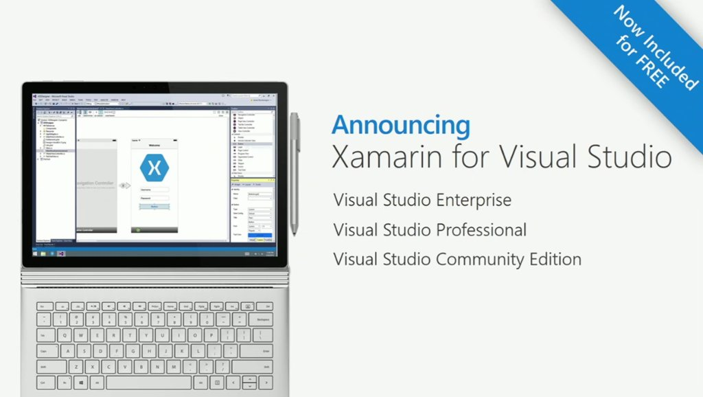 Build 2016: Xamarin to Be Free, Integrated with Visual Studio