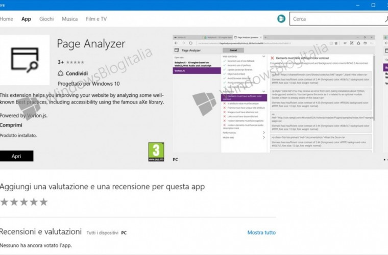 Microsoft Edge's Page Analyzer extension pops up in the store, should be coming soon 1
