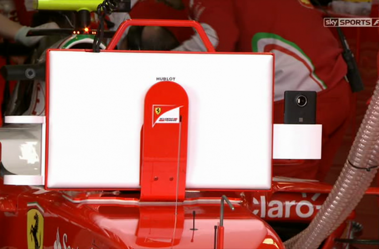 Lumia 950 XL gets some air time in Ferrari's F1 pitstop 7