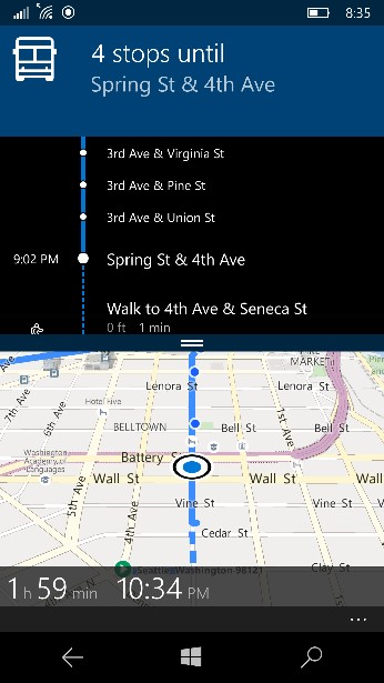 improved transit directions