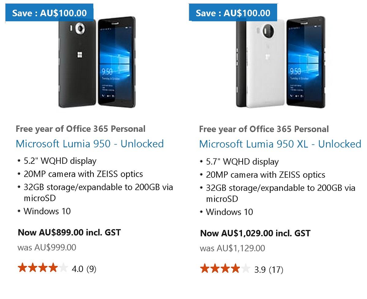 lumia 950 aus deal