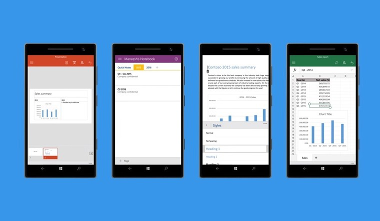Office Mobile apps for Windows 10 updated with TimeLine support 14