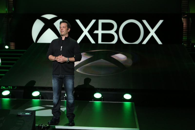 Phil Spencer, Head of Xbox, at the Xbox E3 2014 Media Briefing at the Galen Center on Monday, June 9, 2014 in Los Angeles. (Photo by Casey Rodgers/Invision for Xbox/AP Images)