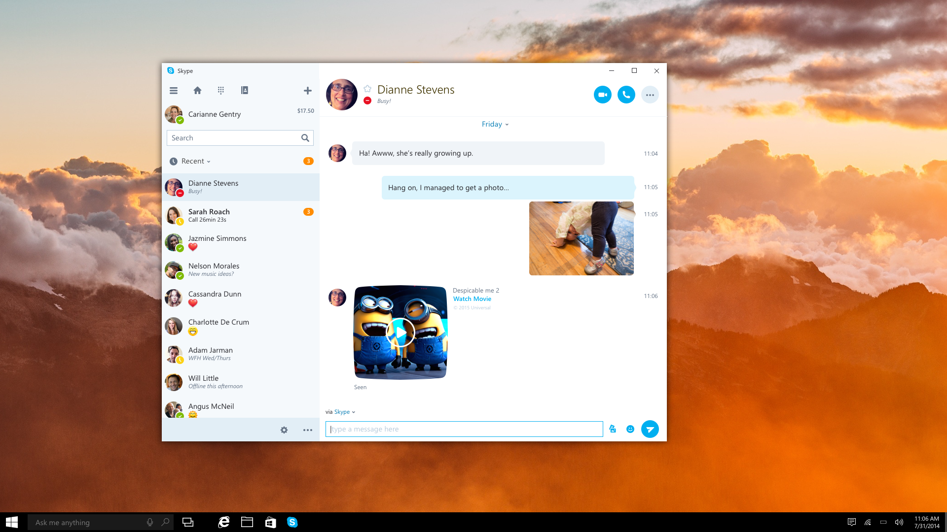 Microsoft Will Soon Release Universal Skype App For Windows 10