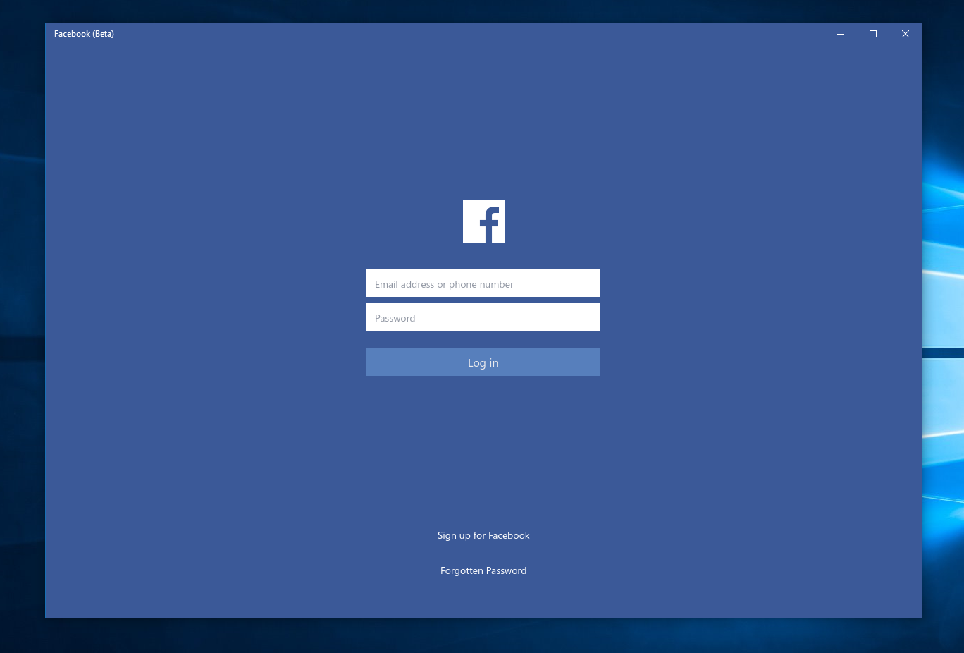 Facebook sign up download