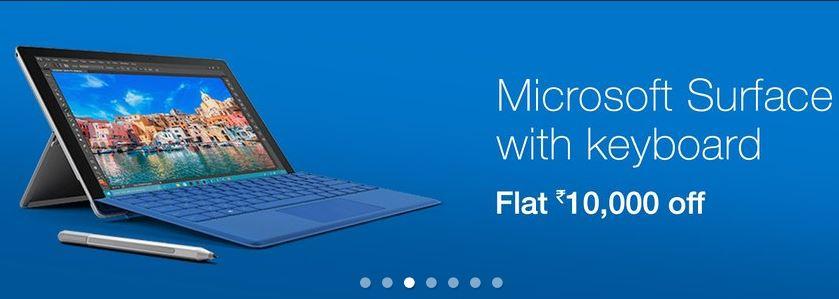 Amazon India Surface Pro 4