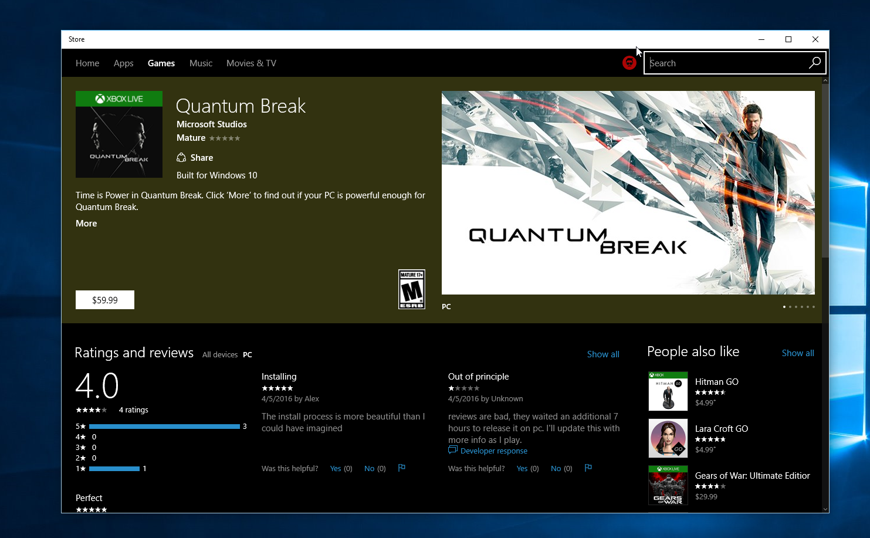 Quantum break windows 7 скачать steam для кс го