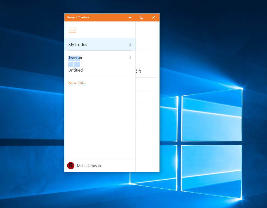 Hands-on with Project Cheshire, Microsoft's upcoming To-Do list app for Windows 10 9