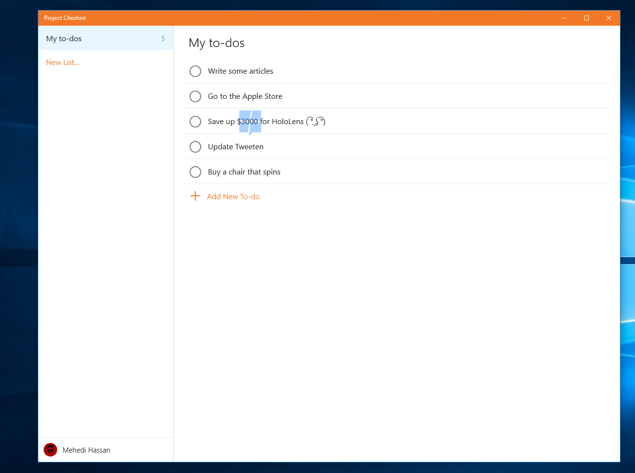 Hands-on with Project Cheshire, Microsoft's upcoming To-Do list app for Windows 10 2