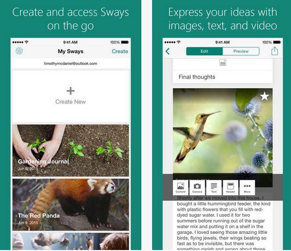 Sway iOS Update