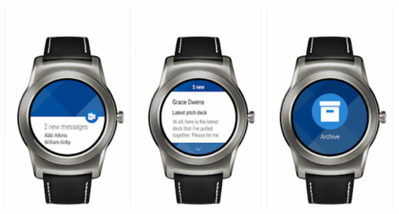 Outlook support for Android Wear smartwatches