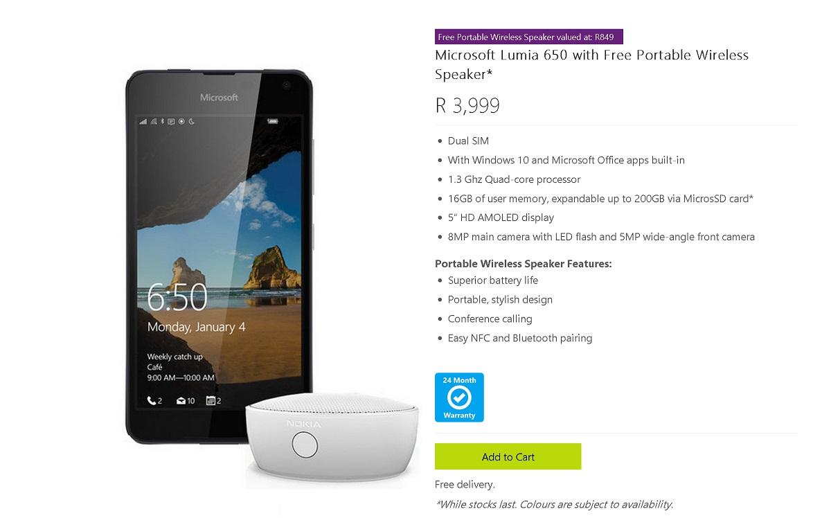 lumia 650 free speaker