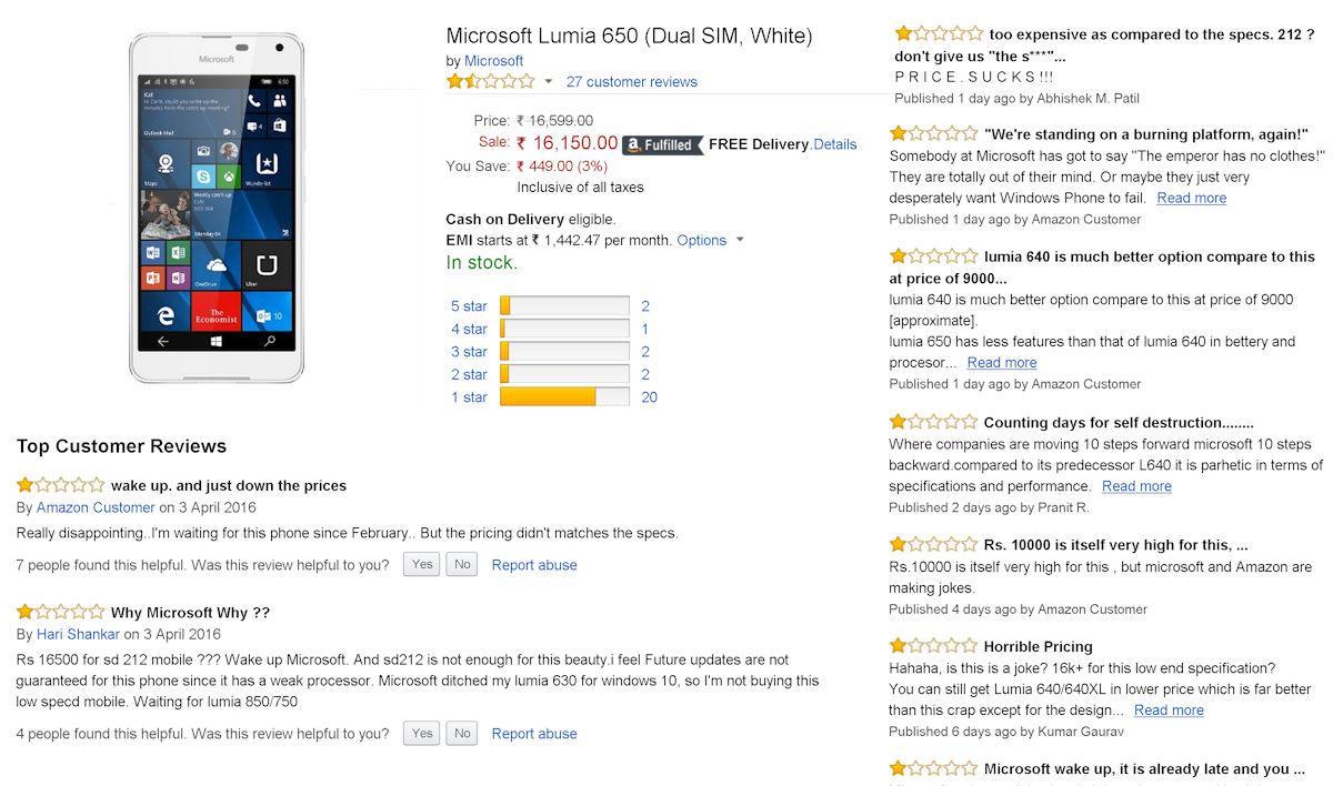 lumia 650 scores