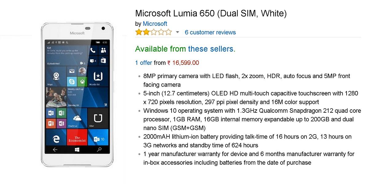lumia650india