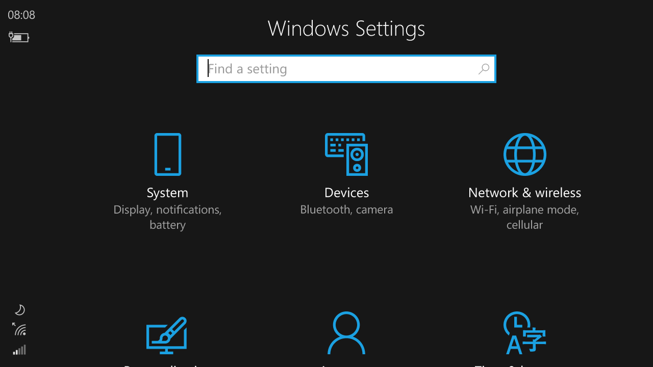 Windows 10 Mobile Redstone to introduce improved Quick Actions and an improved UI for Settings 8