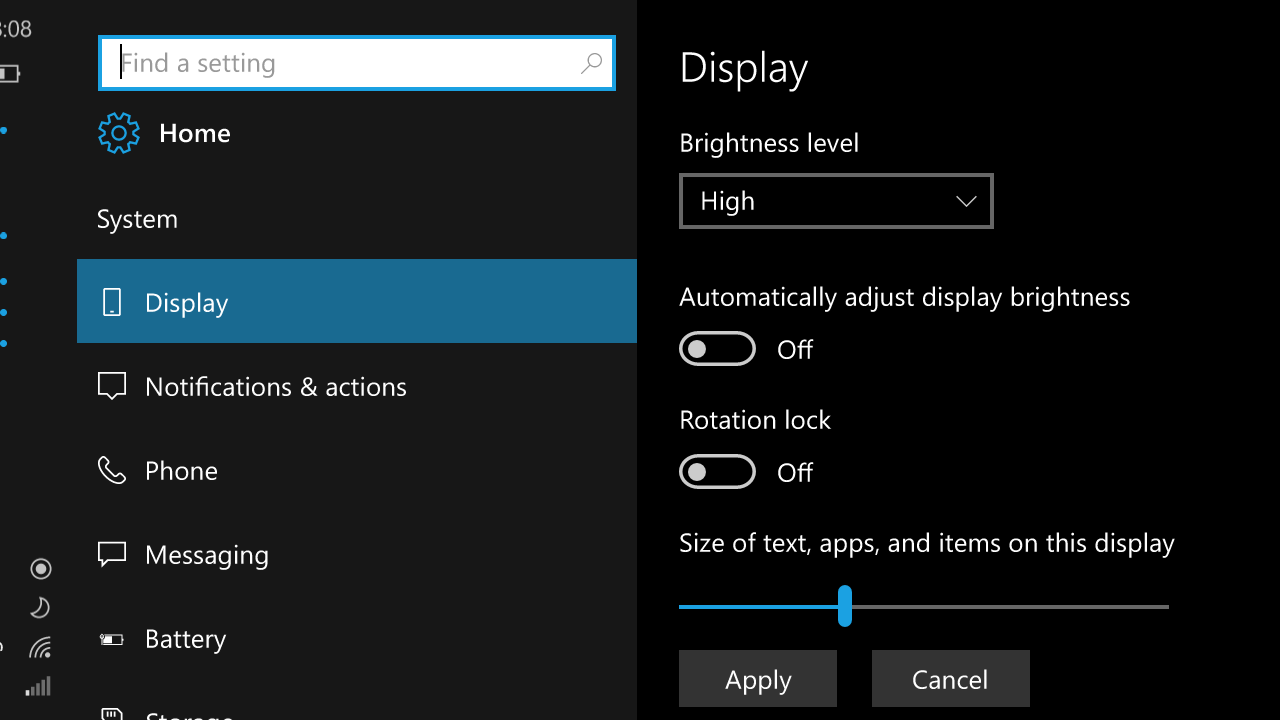 Windows 10 Mobile Redstone to introduce improved Quick Actions and an improved UI for Settings 9