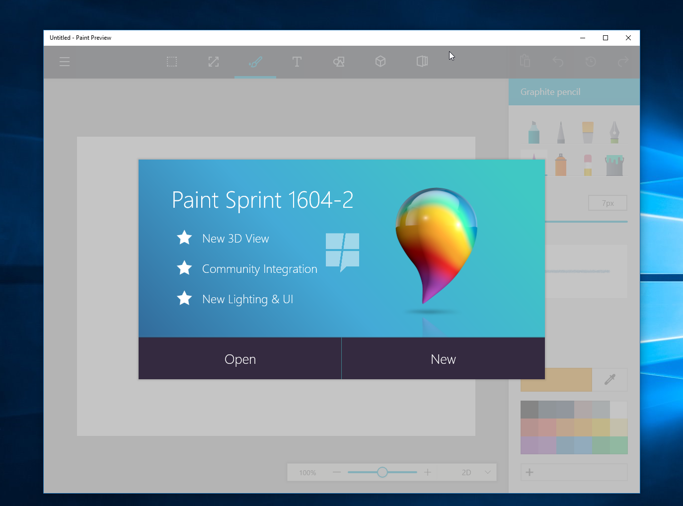 Watch Microsoft's upcoming redesigned Paint app for Windows 10 in action 1