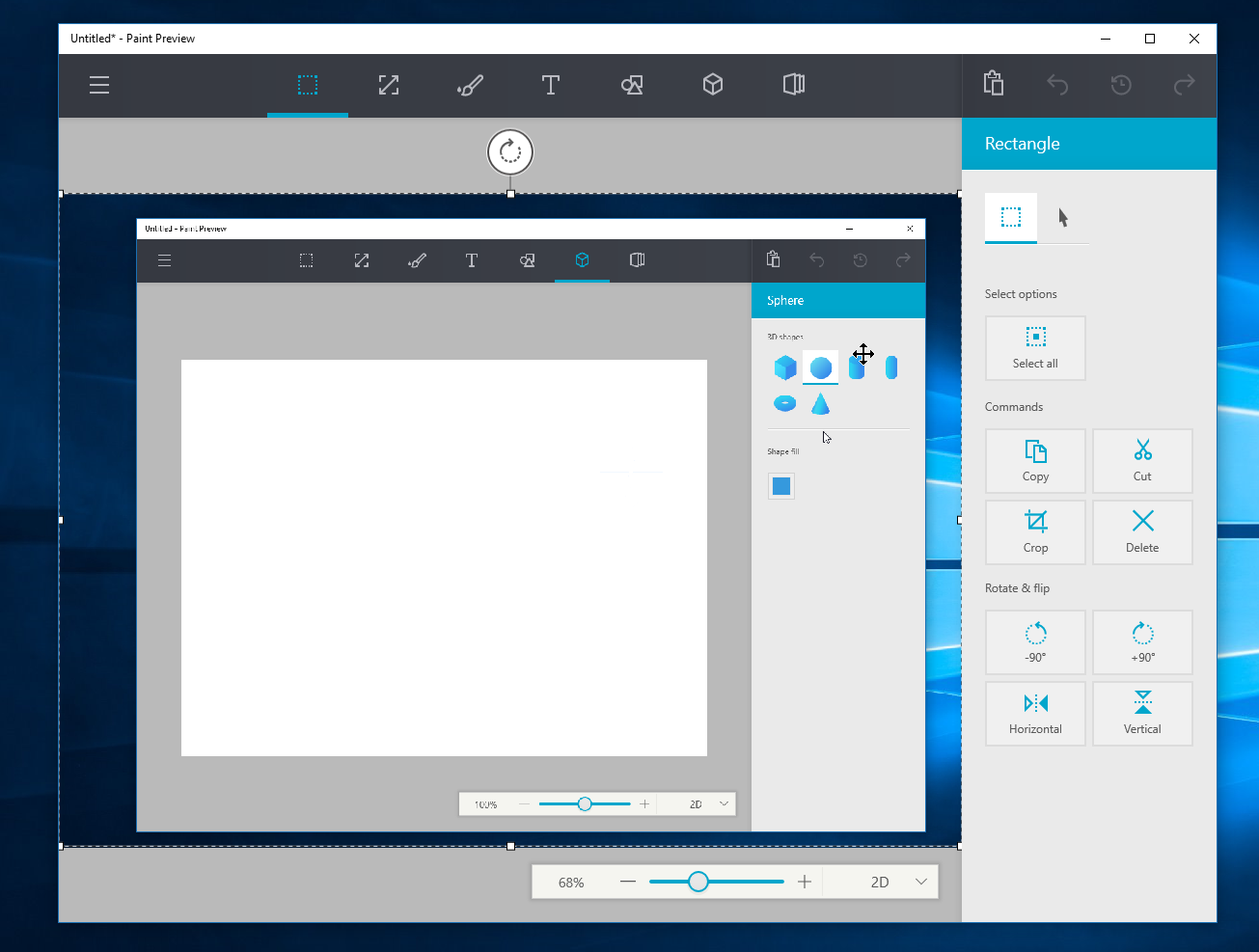 Watch Microsoft's upcoming redesigned Paint app for Windows 10 in action 7