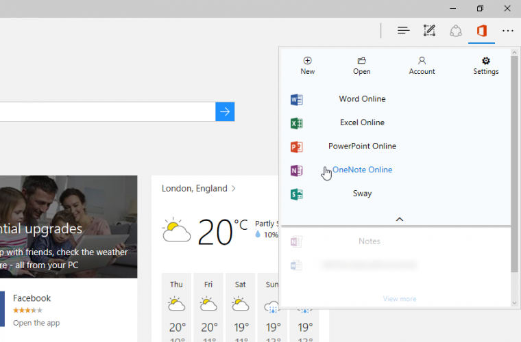 Microsoft is working on an Office Online extension for Microsoft Edge