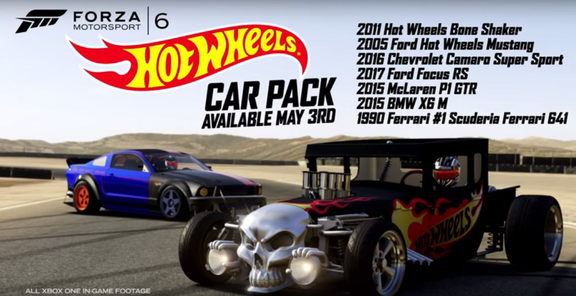 hot wheels car pack for forza motorsport 6 arrives today. Black Bedroom Furniture Sets. Home Design Ideas