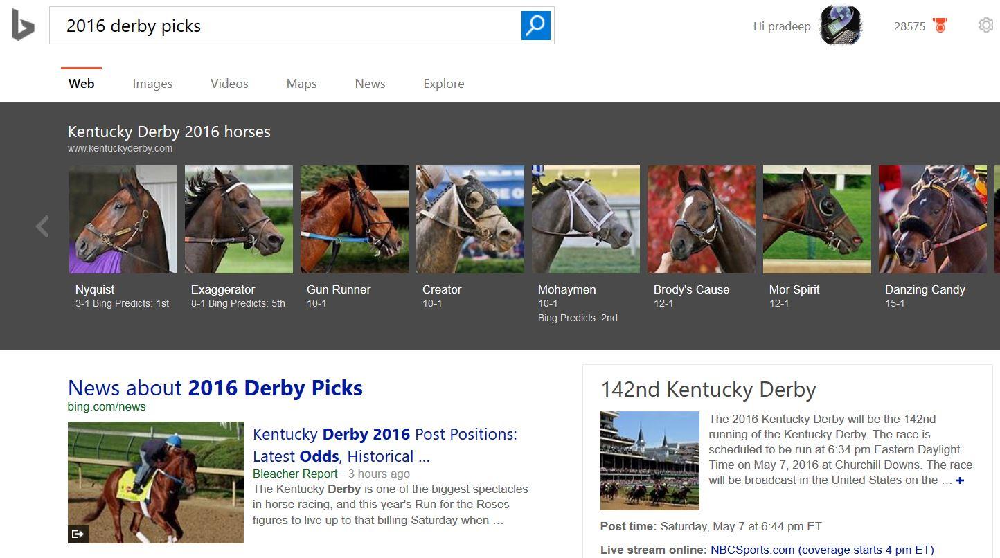 Kentucky Derby Bing Predicts