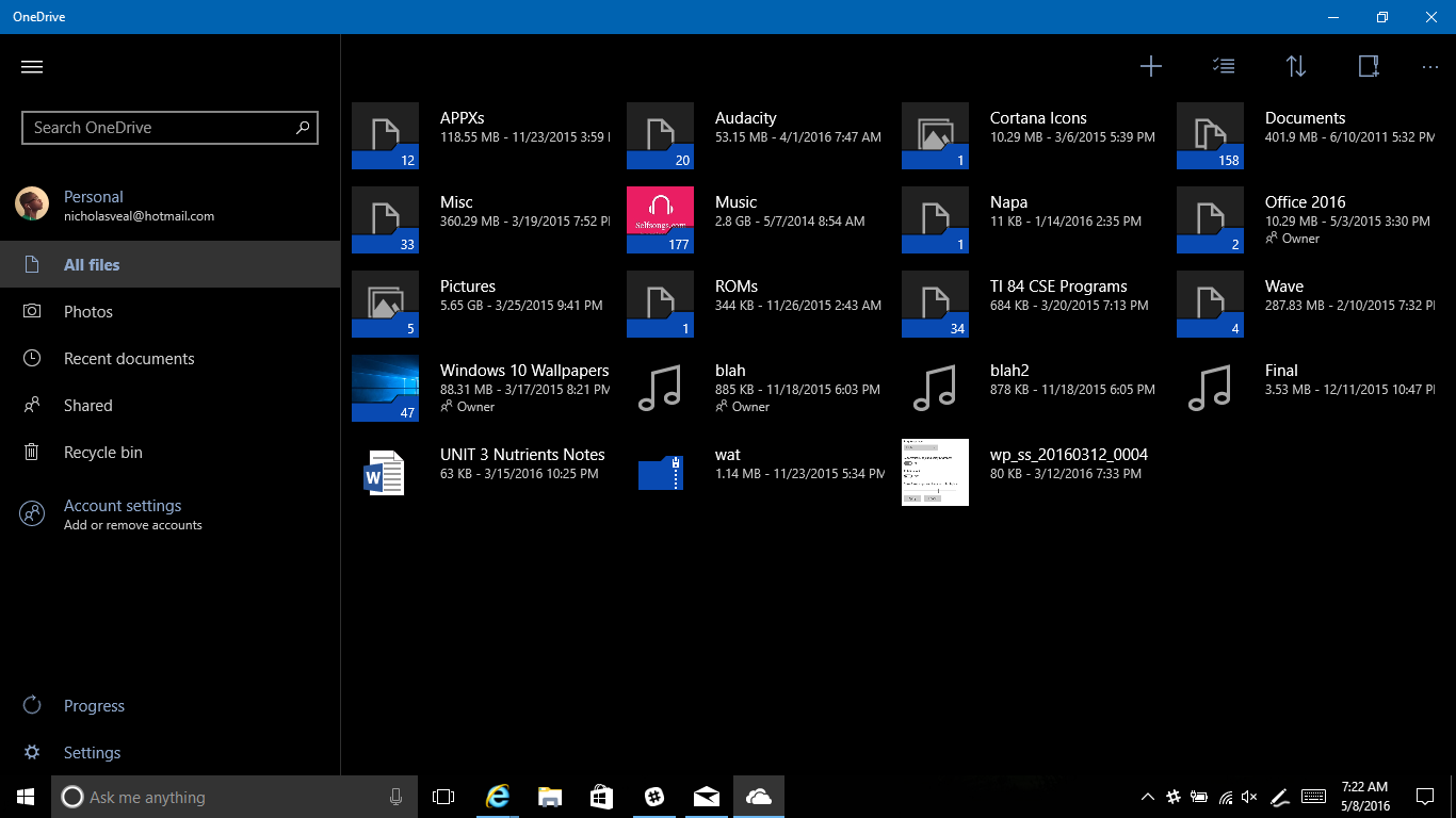 OneDrive universal app updated with UI changes 3