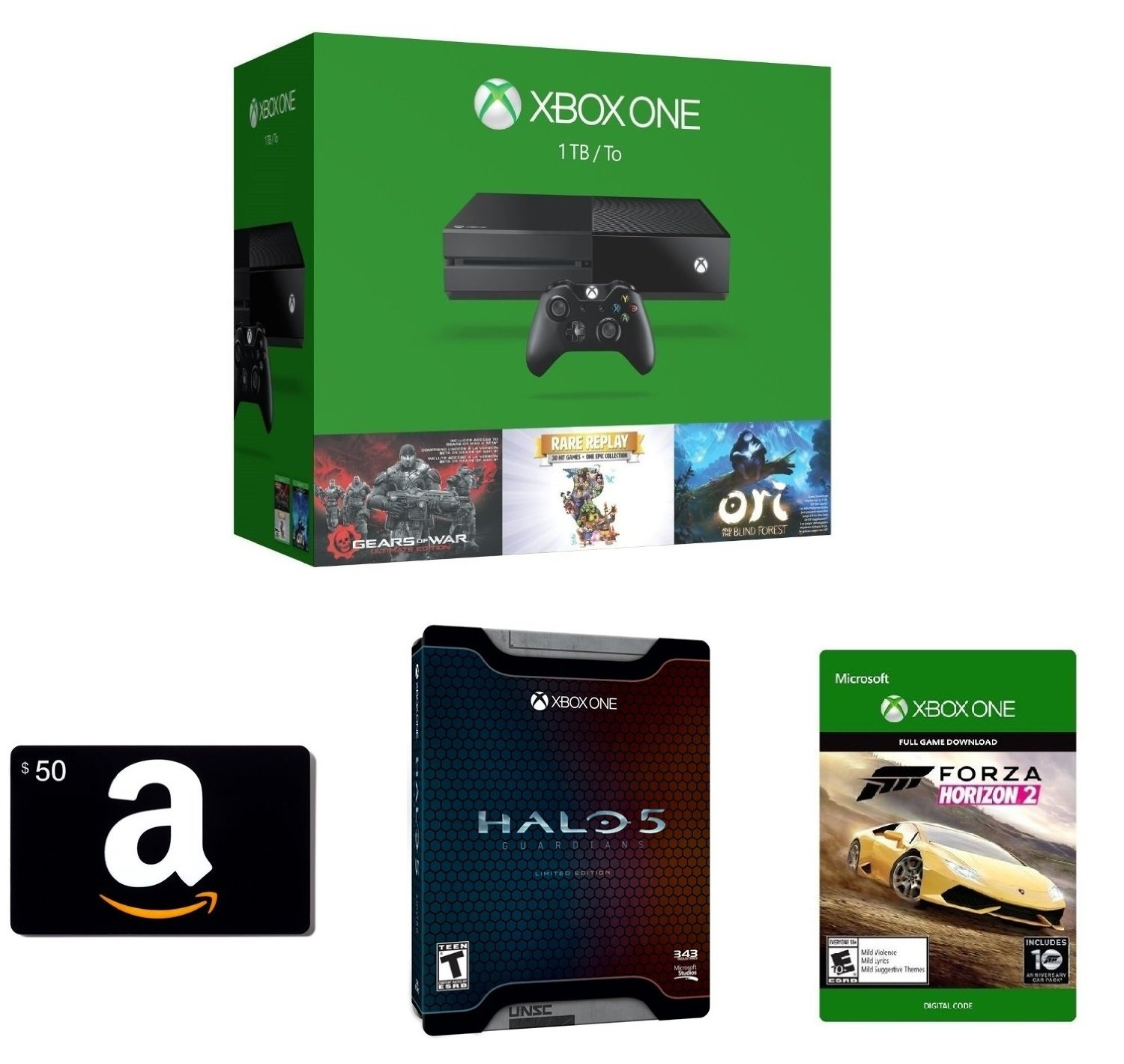 Deal: Amazon offering $50 Gift Card, Halo 5 Limited ...