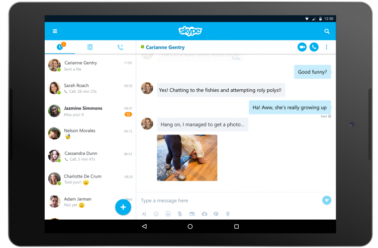 Skype 7.0 for Android released with new design for tablets 9