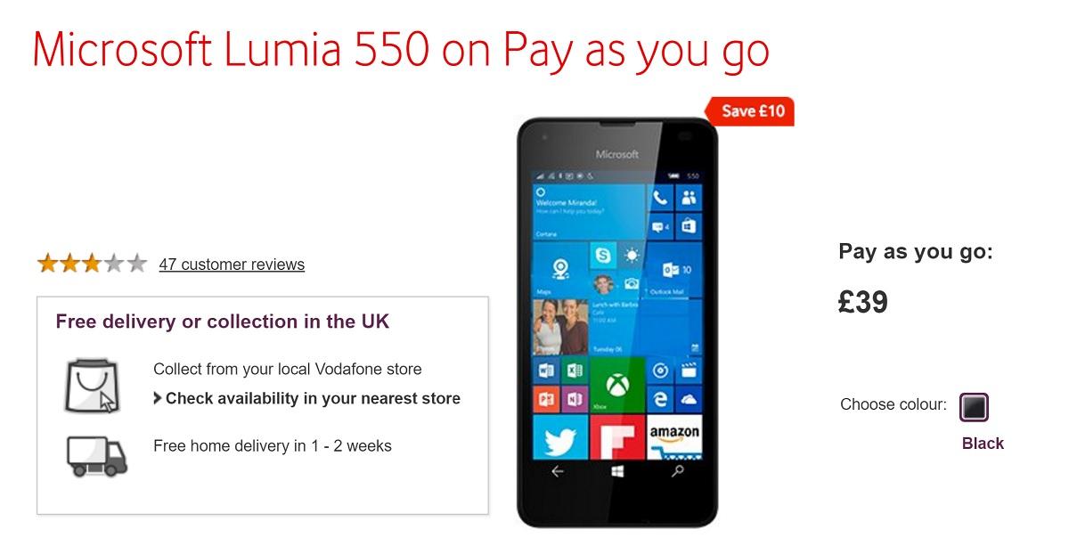 lumia 550 sale