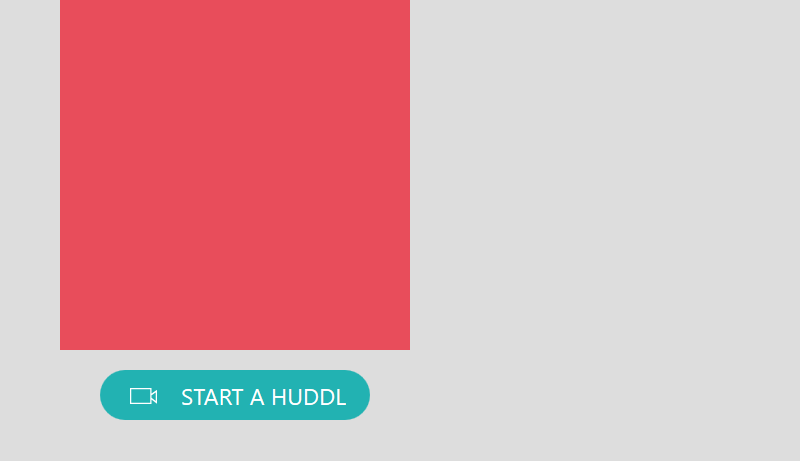 A screen that flashes by when opening Huddl
