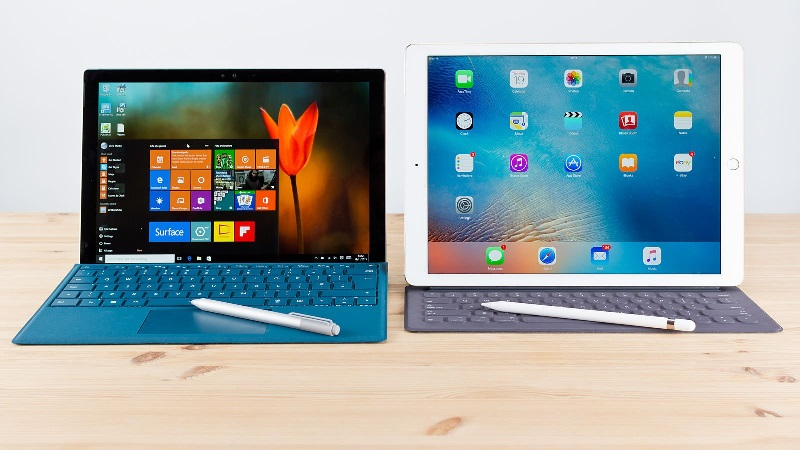 microsoft surface pro outselling ipad pro into enterprise