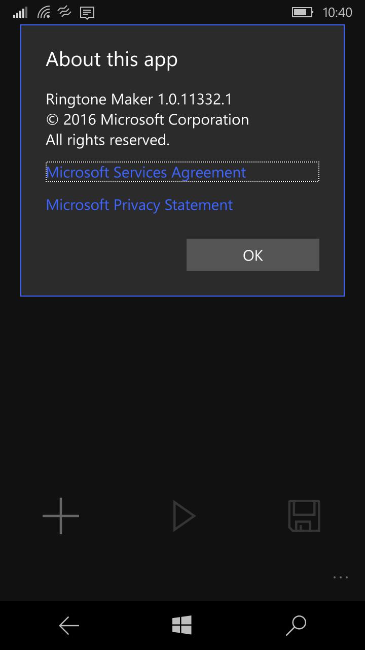 Microsoft's Ringtone Maker for Windows 10 Mobile gets a minor update