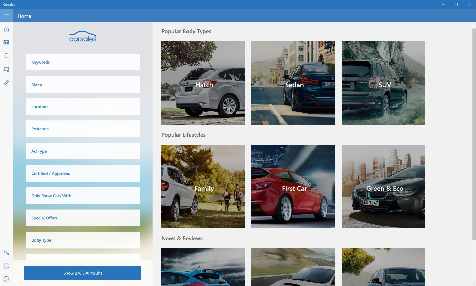 Carsales Windows App