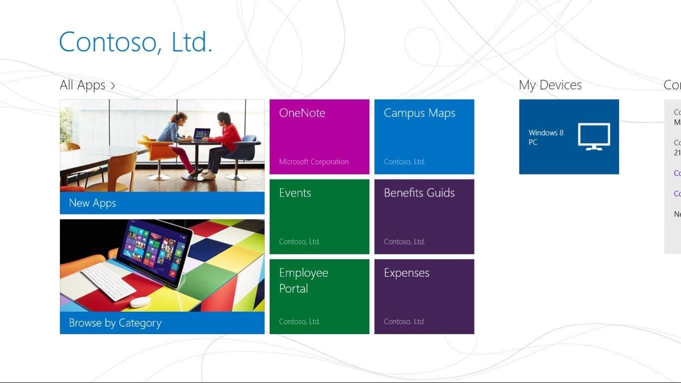 Company Portal Windows 8 App