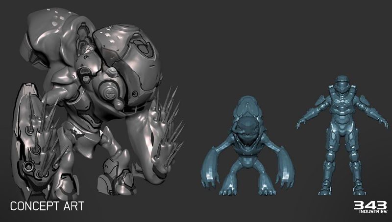 Grunt Goblin concept art for Halo 5: Guardians