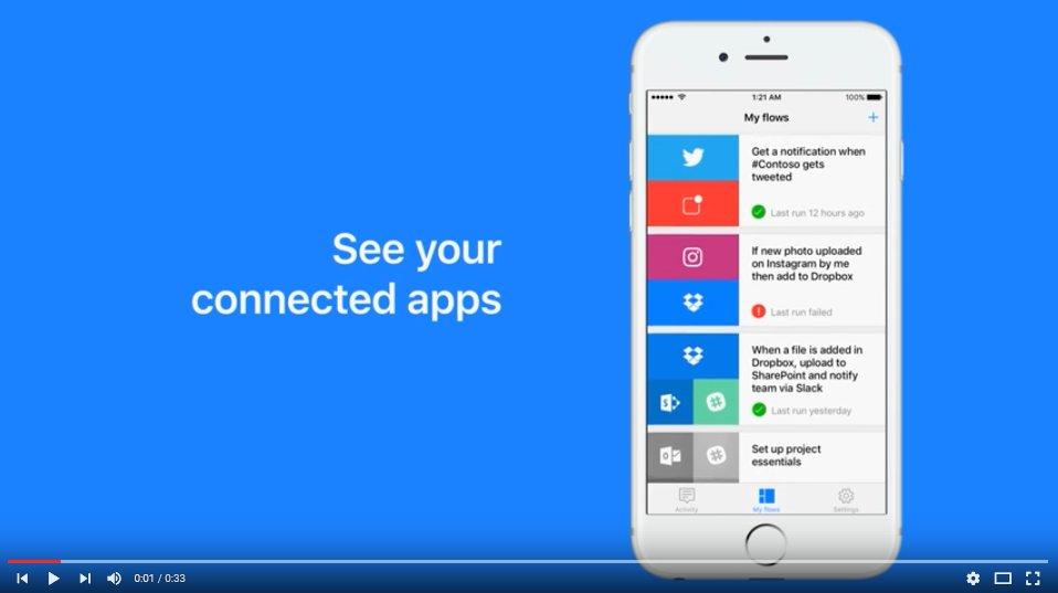 Microsoft Flow iOS