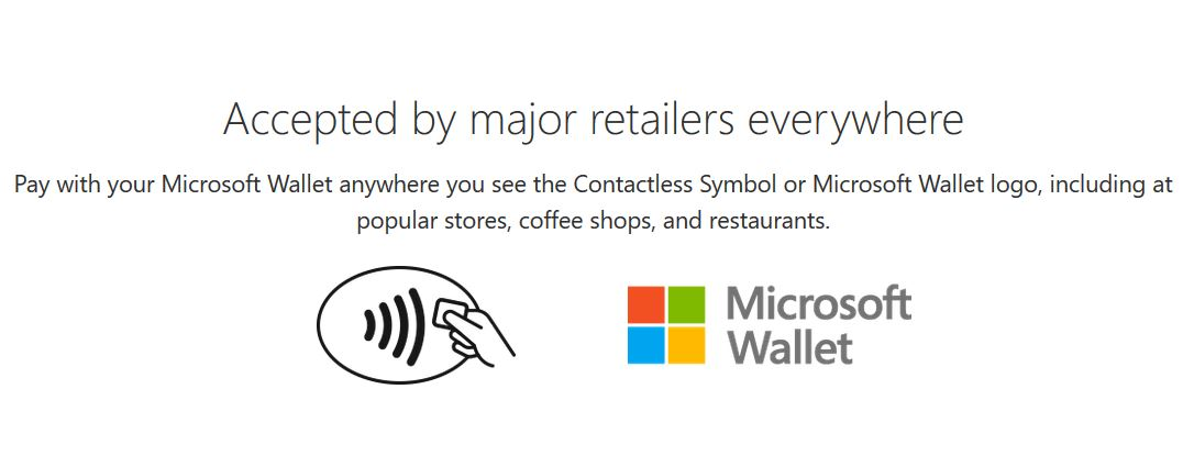 Microsoft Wallet SUpported Retail stores
