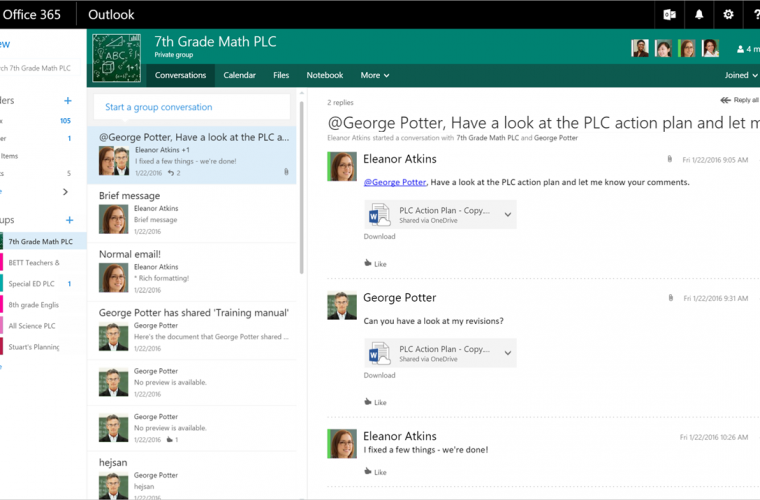 Microsoft releases PLC Groups Preview to foster collaboration among educators 14