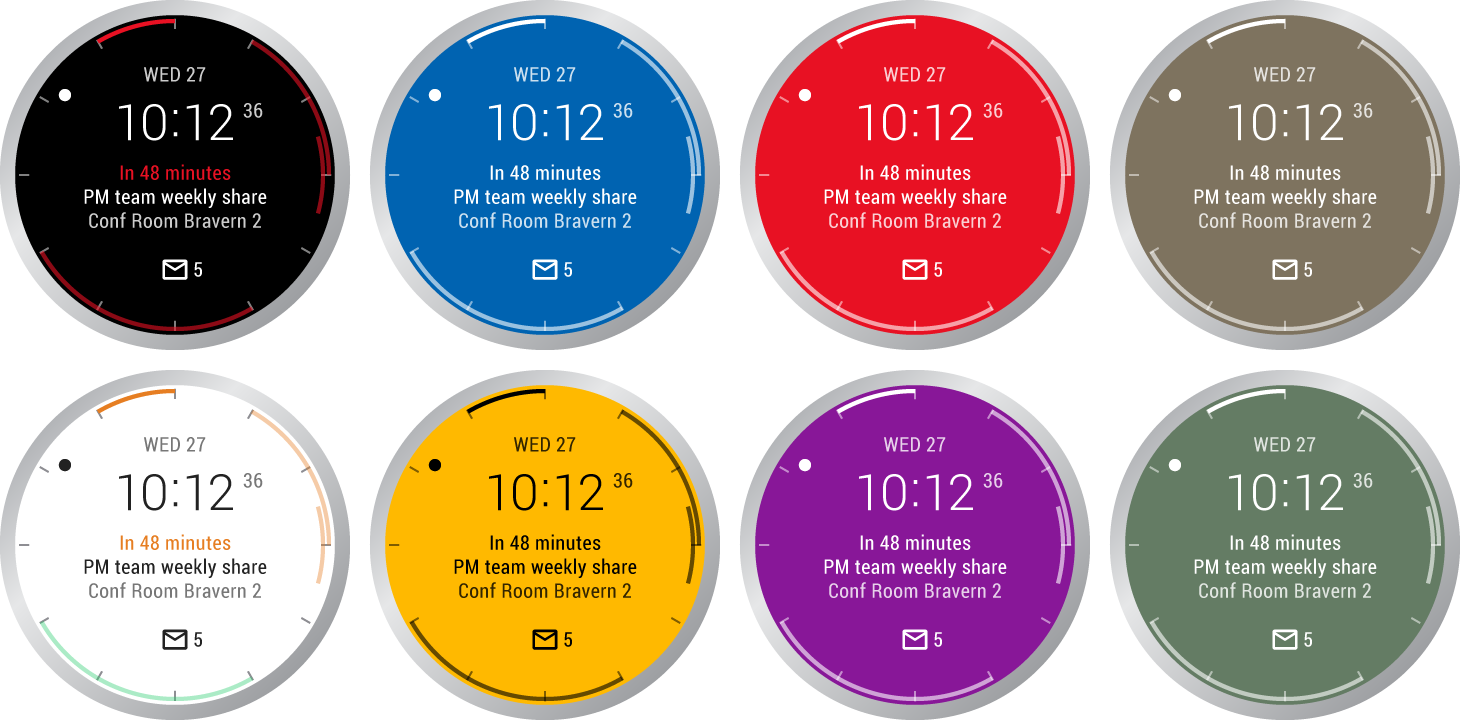 Outlook Android Wear Watch Face