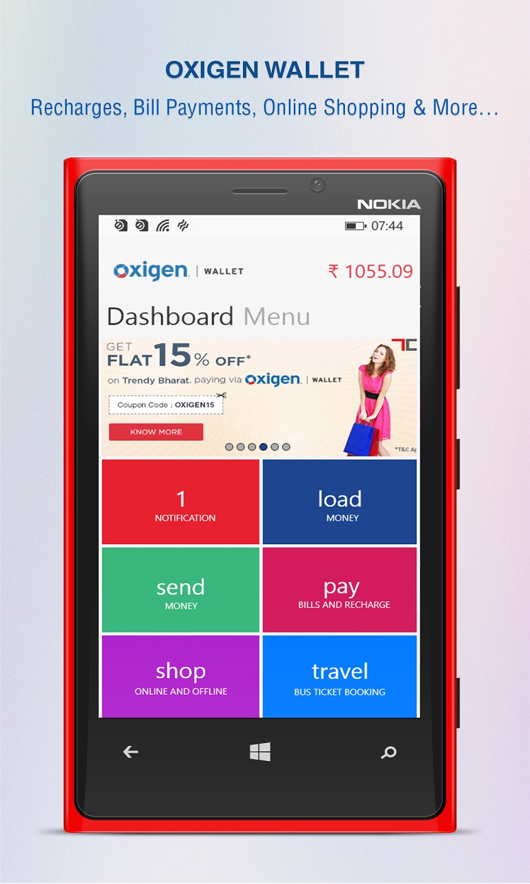 oxigen wallet app updated in windows store with support for free