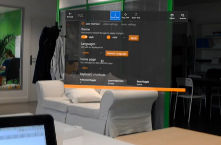 New HoloLens video of the universal VLC app released 7