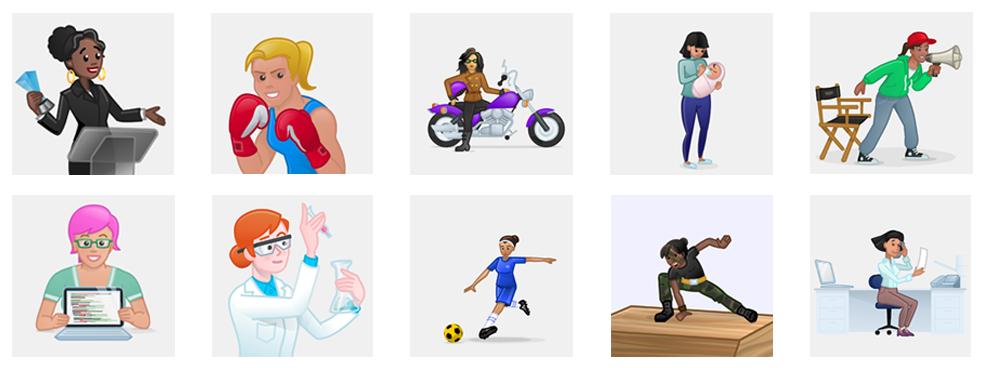 Skype Women Emojis
