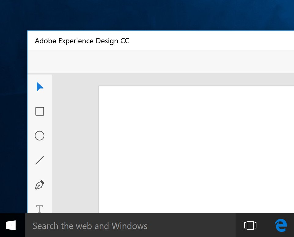 Adobe is working on an uwp app for experience design cc for Window design app