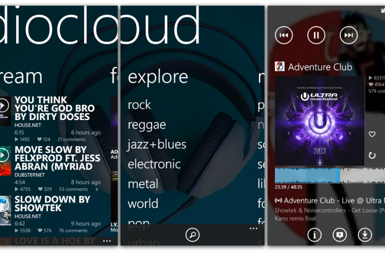 Audiocloud universal app released for Windows 10 devices 6
