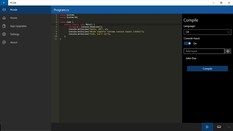 Developer submission code an online compiler for Code compiler