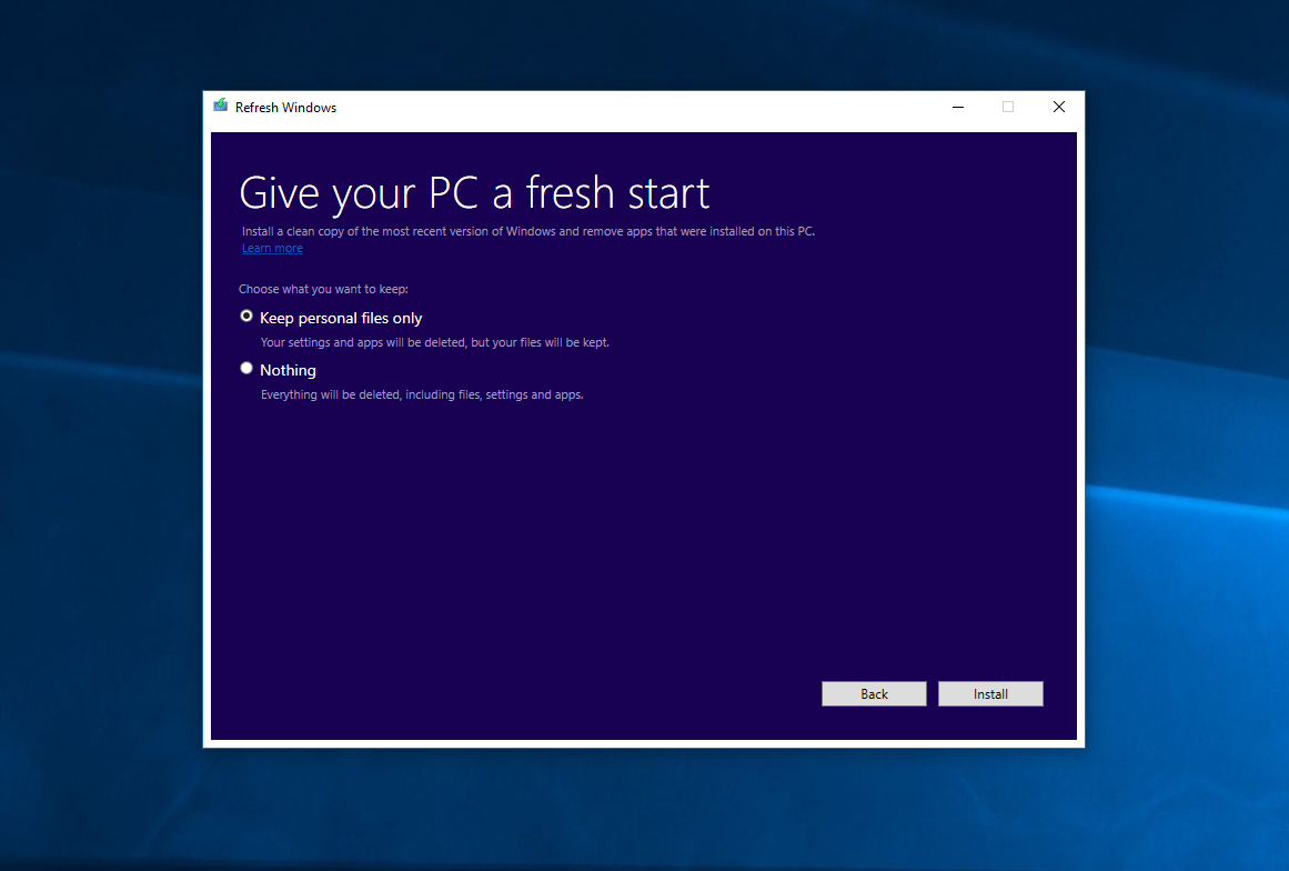 Microsoft Officially Releases Refresh Windows Tool For