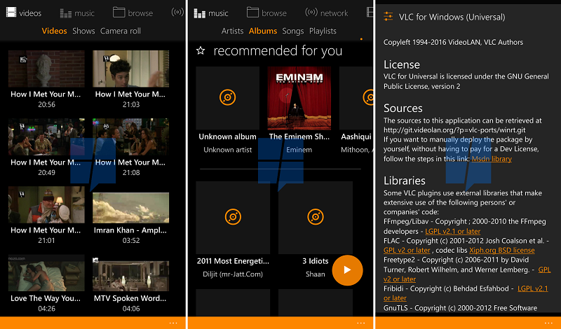 First Look At Vlc Uwp App For Windows 10 Mobile Mspoweruser